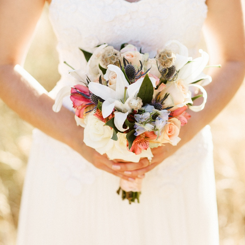 Bridal bouquet for wedding in Yosemite