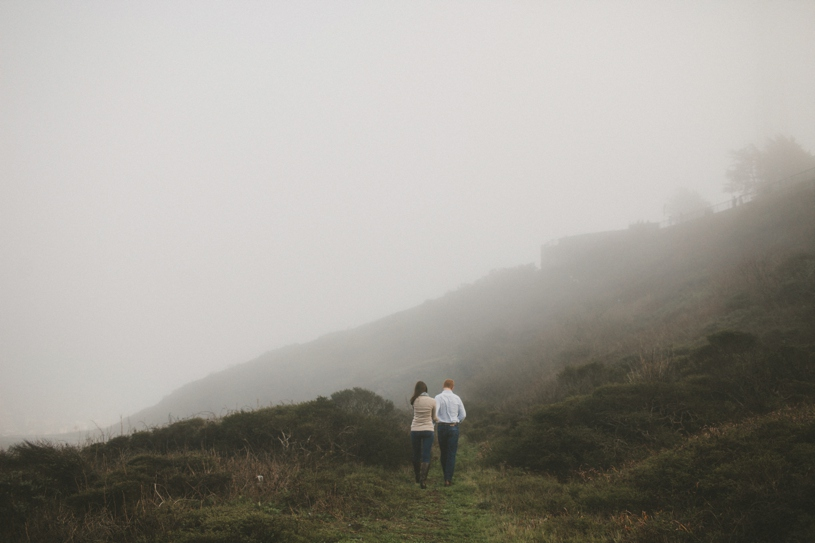 Moody and artistic bernel heights san francisco engagement by heather elizabeth photography