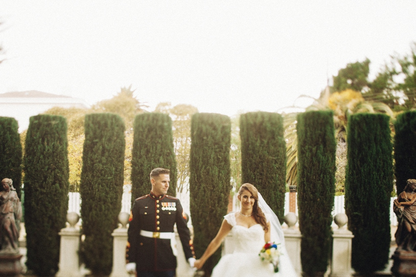 a colorful disneyland wedding