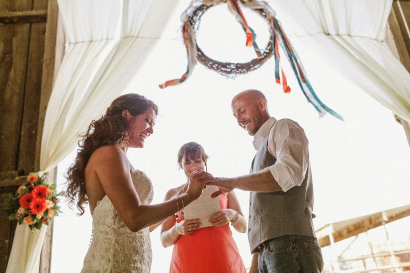 emotional wedding photography at a california barn yard wedding by heather elizabeth photography