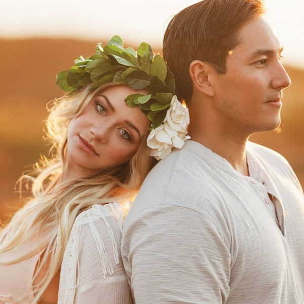 Bohemian engagement session in Big Sur California by Heather Elizabeth Photography