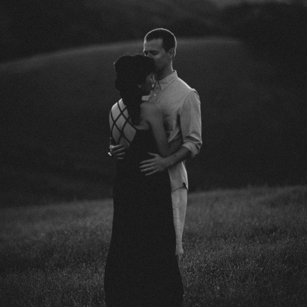 dramatic styled engagement session in livermore, CA by heather elizabeth photography