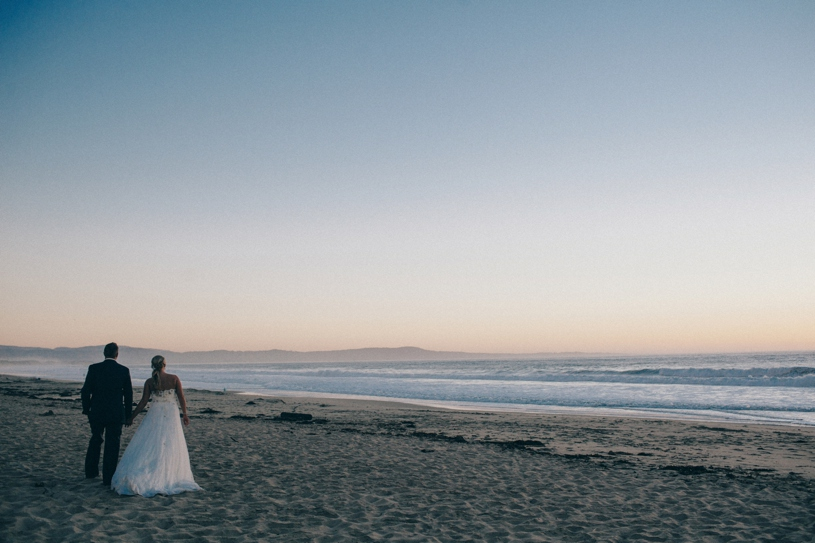 romantic wedding portrait on the beach at THE SANCTUARY BEACH RESORT, CALIFORNIA  by heather elizabeth photography