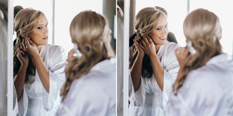bride preparing for her wedding in carmel by heather elizabeth photography