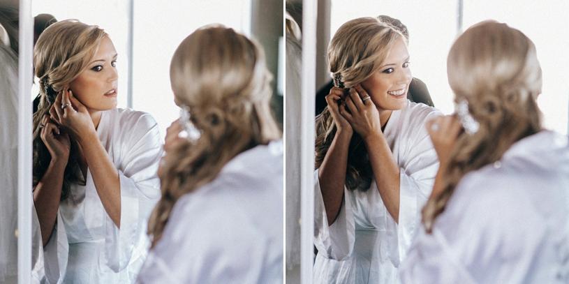 bride preparing for her wedding in carmel by heather elizabeth photography