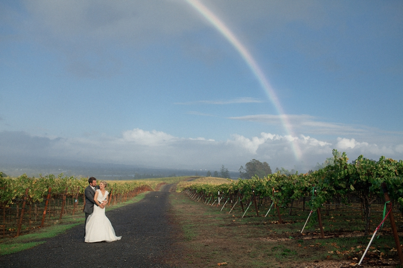 portrait in the vineyards with a rainbow at the vine hill house by heather elizabeth photography