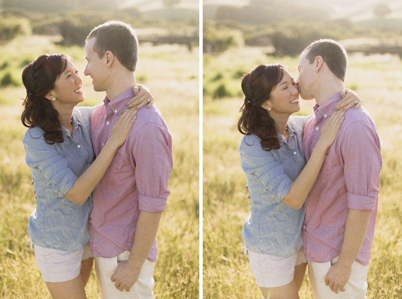 Sweet pastel engagement in Morgan Territory by Heather Elizabeth Photography