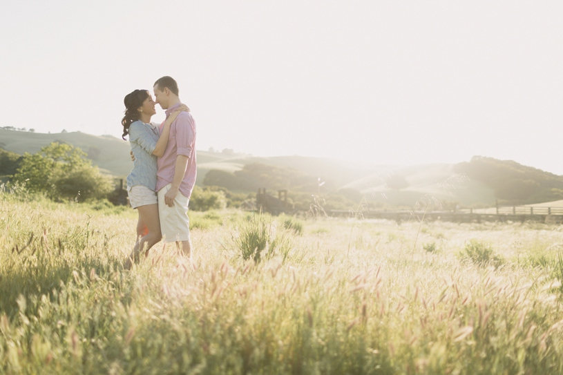 Sunset pastel engagement in Morgan Territory Livermore by Heather Elizabeth Photography