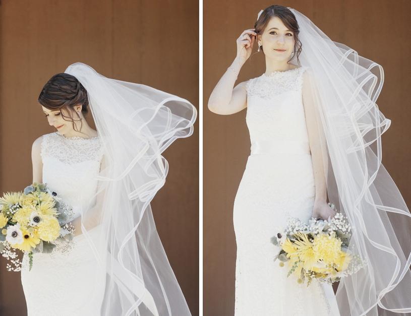 Mikaella bridal gown at a wedding in UC Davis by Heather Elizabeth Photography