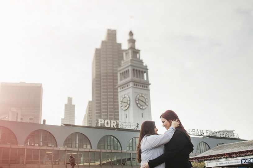 Lesbian engagement in San Francisco by Heather Elizabeth Photography
