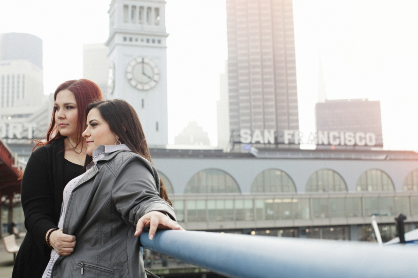 engagement session at the ferry building of san francisco by heather elizabeth photography