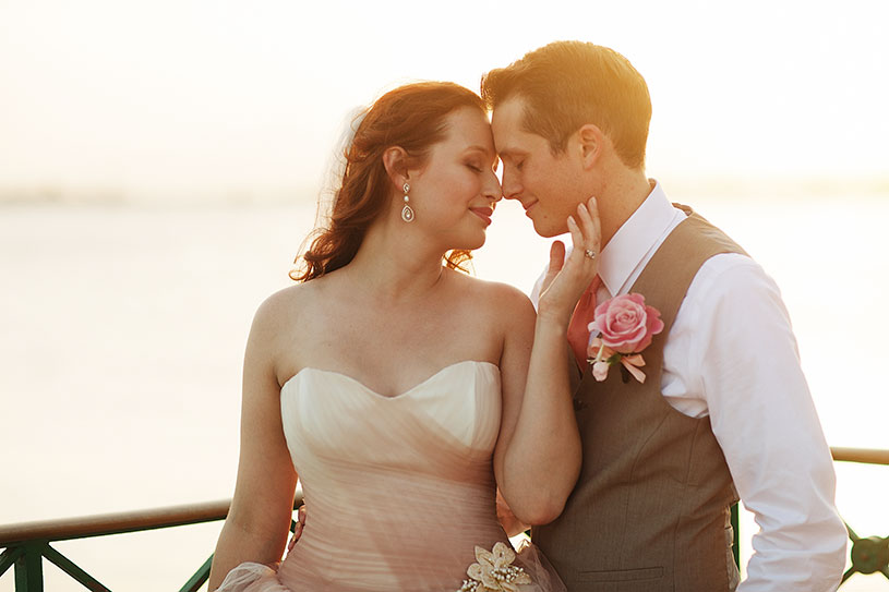 Sunset wedding portrait in Puerto Rico by Heather Elizabeth Photography