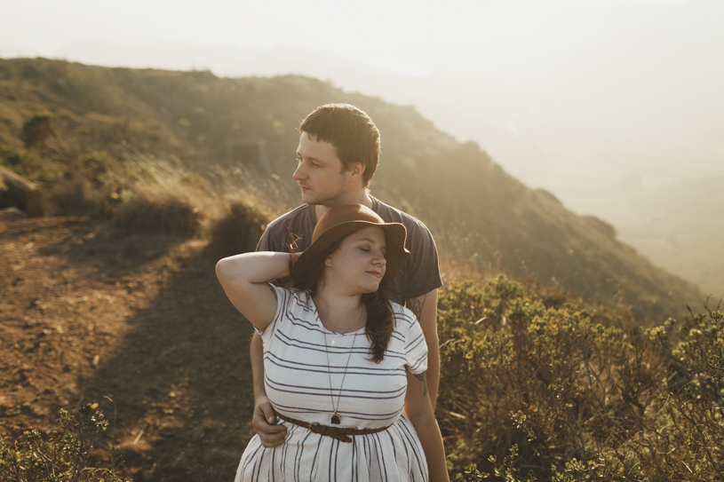 Couples photography at the Marin Headlands by Heather Elizabeth Photography