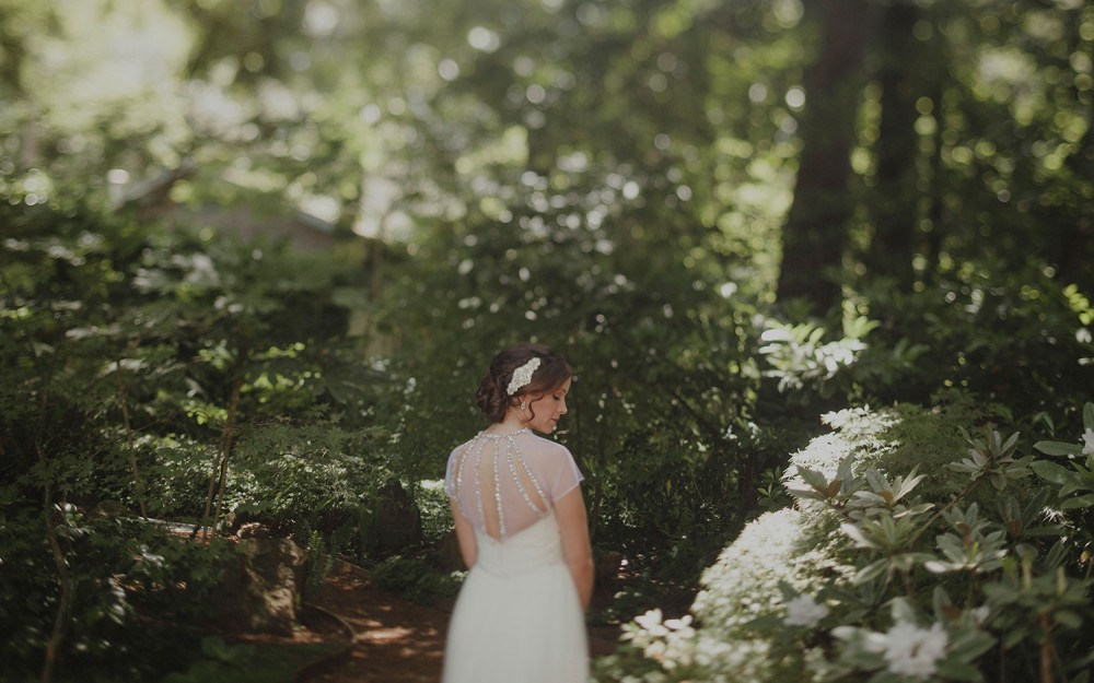bride at her wedding at sand rock farm in aptos by heather elizabeth photography wearing Hayley Paige