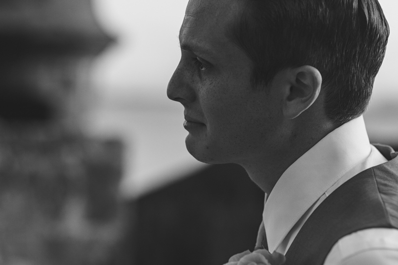 Groom seeing his bride for the first time at Plazuela le Rogativa by heather elizabeth photography