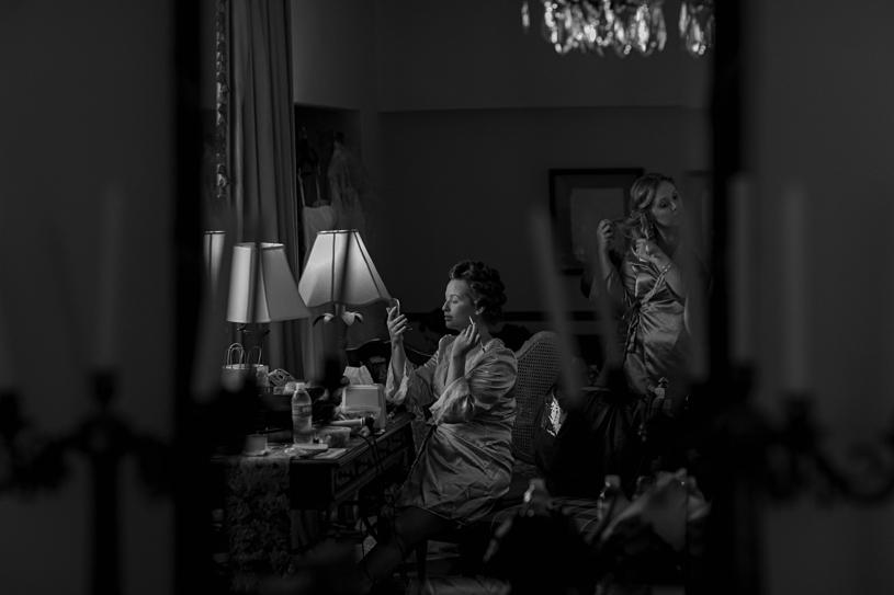 bride preparing for her wedding at the el hotel convento in old san juan puerto rico by heather elizabeth photography