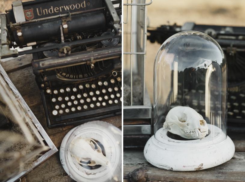 Gothic fall vintage wedding details for an edgar allen poe inspired wedding by Heather Elizabeth Photography
