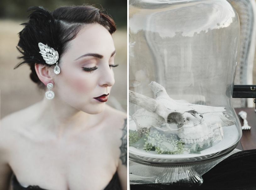 haunting bridal fall wedding inspiration by heather elizabeth photography