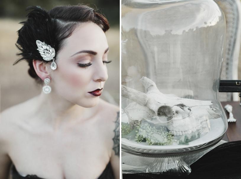 haunting bridal fall wedding inspiration by heather elizabeth photography
