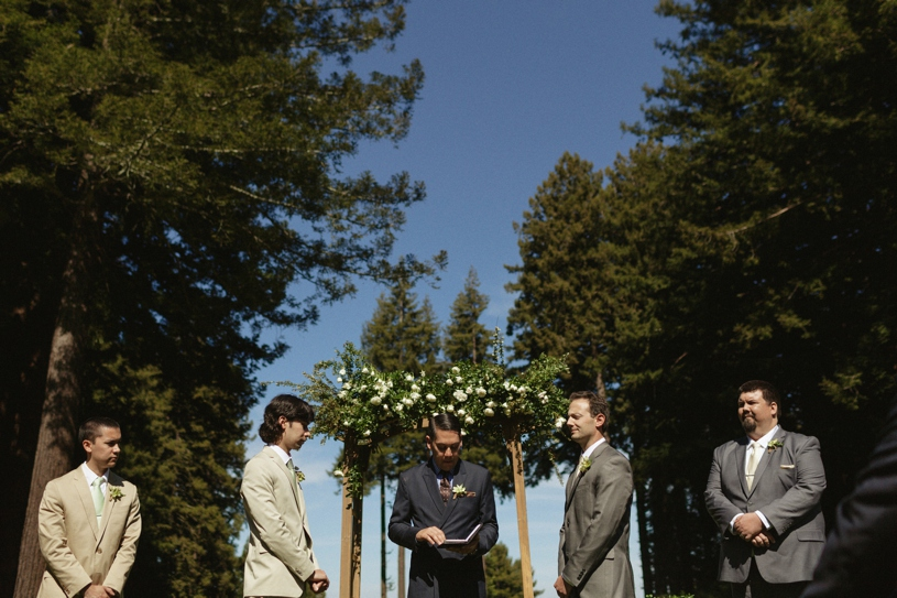 two groom same sex wedding ceremony at the mountain terrace by heather elizabeth photography