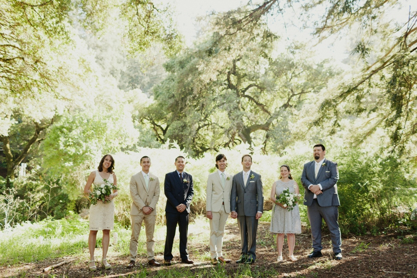 Same sex two groom wedding party at the mountain terrace by heather elizabeth photography