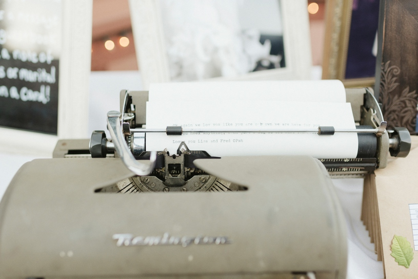 typewriter details at a same sex wedding in woodside by heather elizabeth