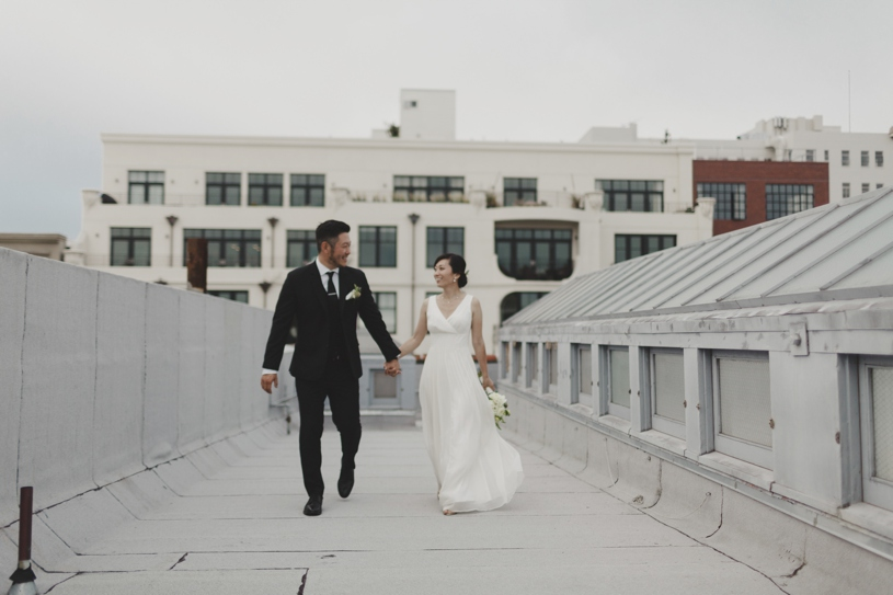 rooftop wedding portraits at the firehouse 8 by heather elizabeth photography