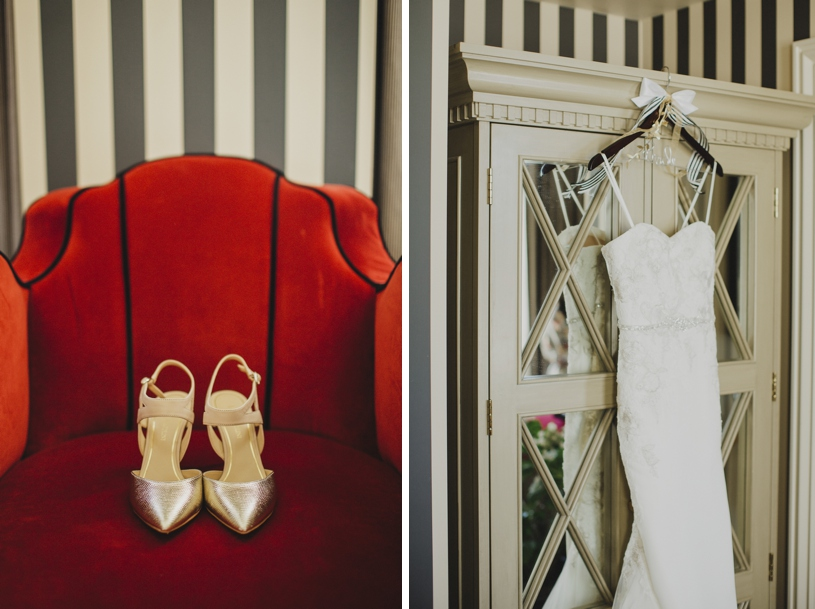 gold wedding shoes for a sophisticated wedding at the citizen hotel by heather elizabeth photography