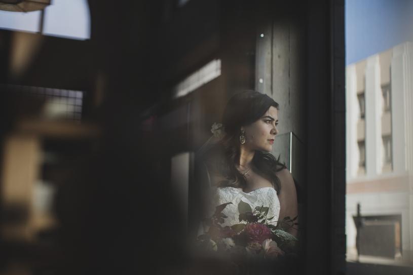fine art creative bridal portrait at the citizen hotel in sacramento by heather elizabeth photography