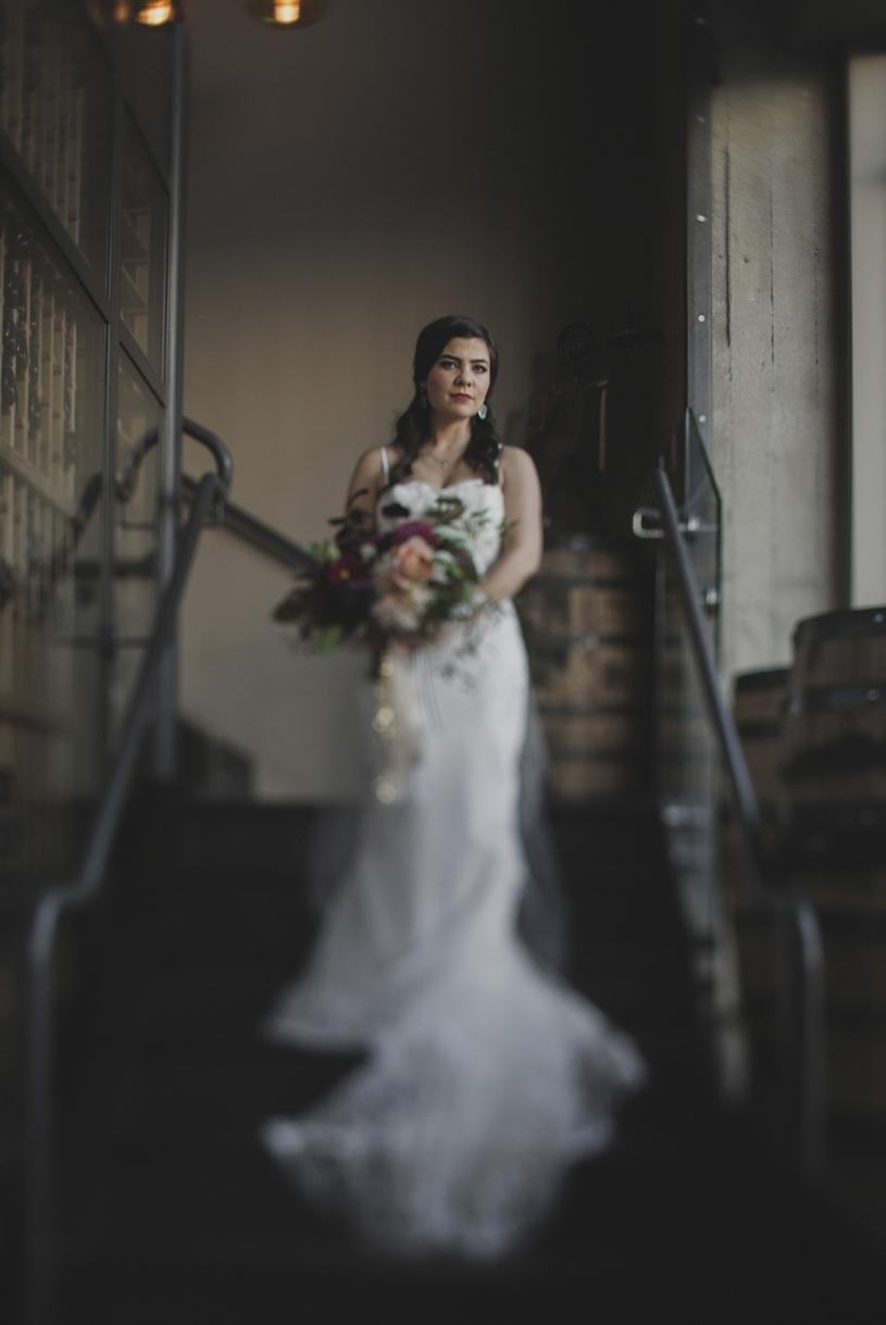 fine art tilt shift portrait of a bride at the citizen hotel in sacramento by heather elizabeth photography