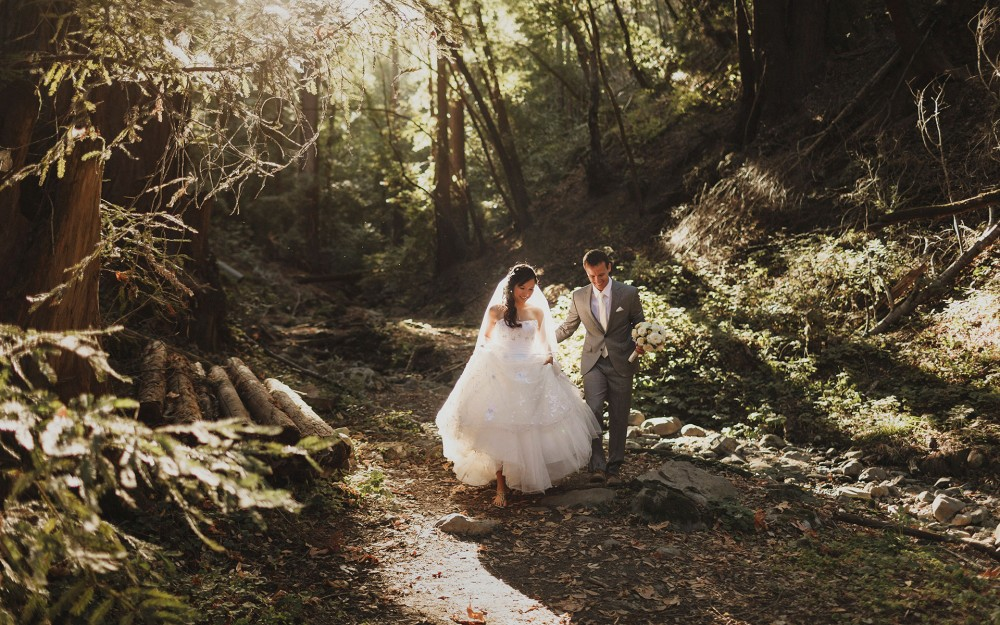 Whimsical wedding in the forest at Saratoga Springs by Heather Elizabeth Photography