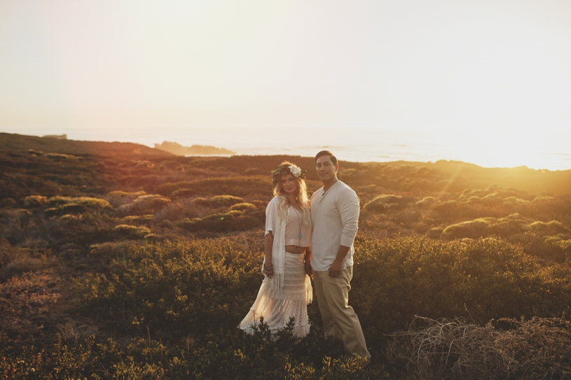 Bohemian engagement session in Big Sur by Heather Elizabeth Photography