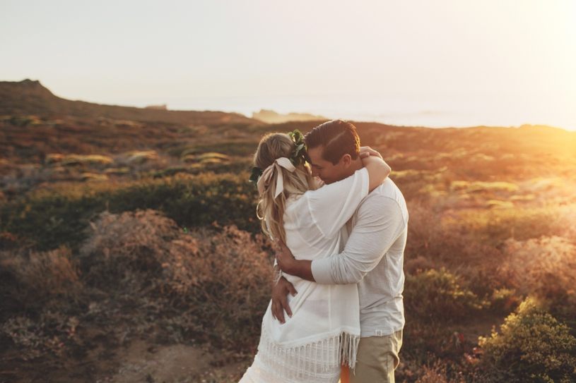 Intimate Bohemian big sur engagement session in Big sur by heather elizabeth photography
