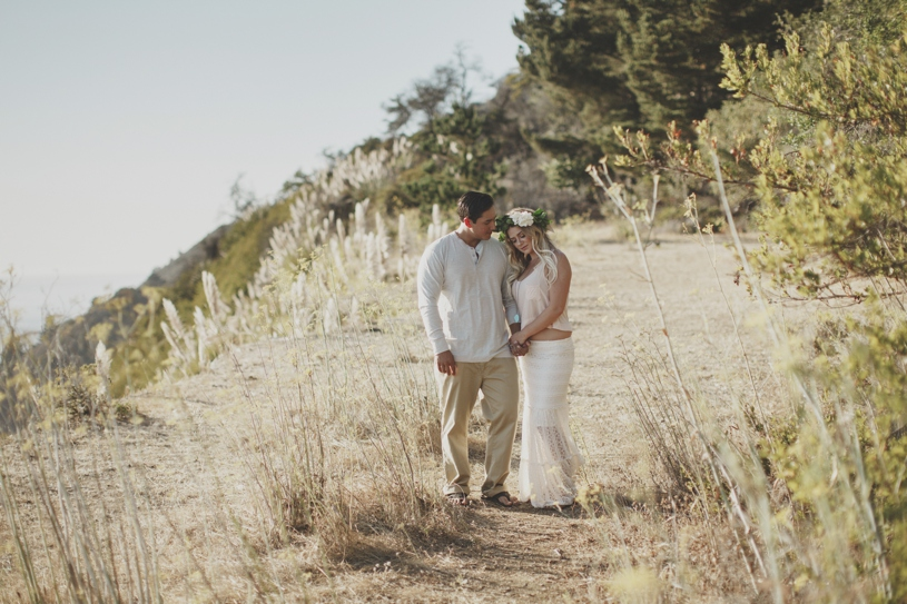 Bohemian bride engagement session in Big Sur by Heather Elizabeth Photography