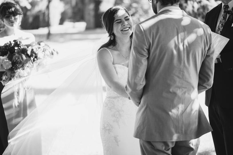 sweet emotional boho ceremony in Sacramento California by Heather Elizabeth Photography