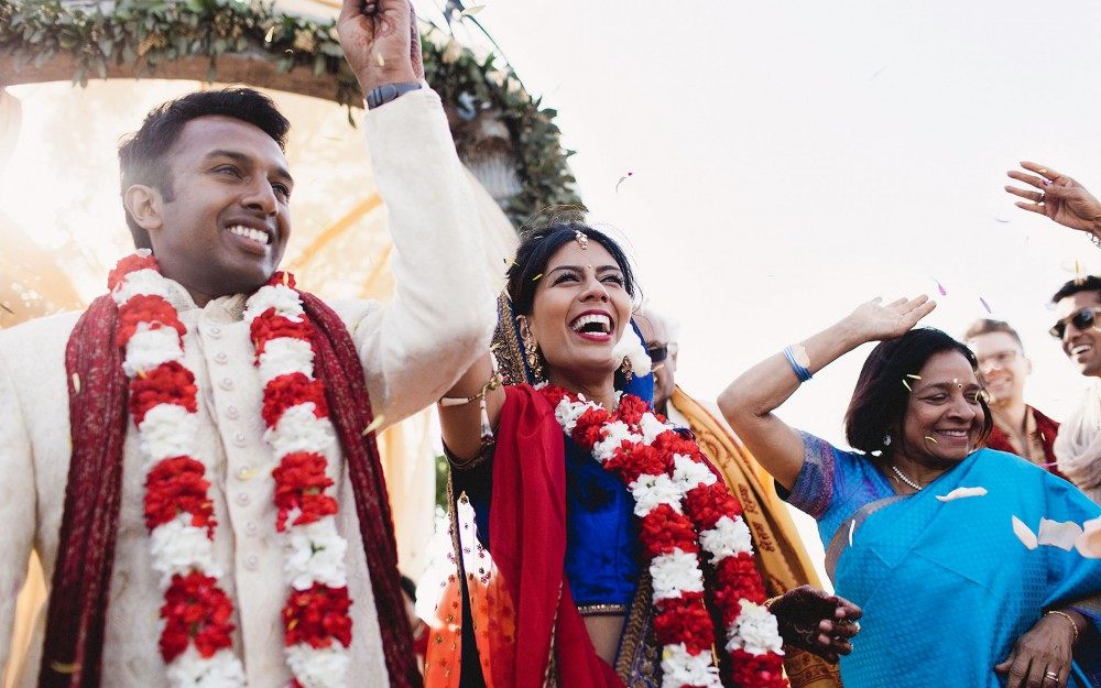 A traditional Indian wedding ceremony at the Meritage Resort in Napa California by Heather Elizabeth Photography