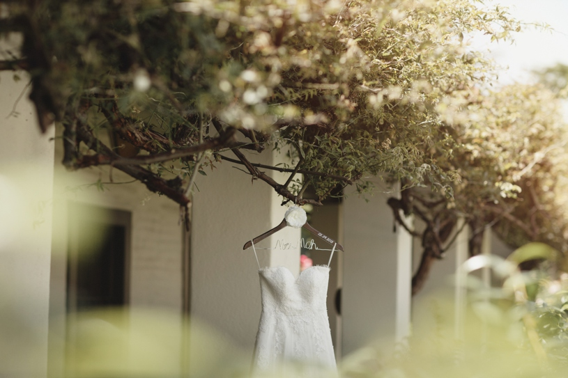 Custom wedding gown at the Adobo Lodge in Santa Clara by Heather Elizabeth Photography