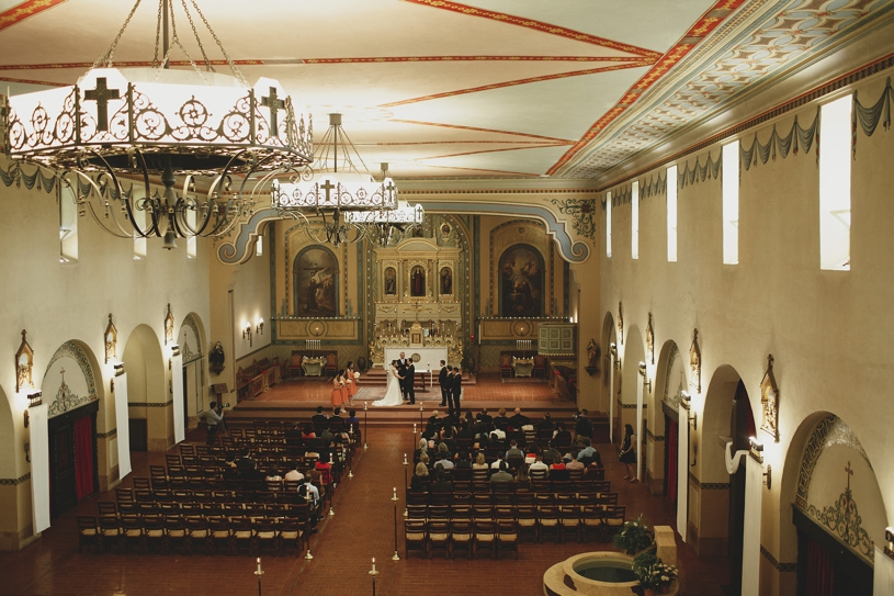 Intimate Wedding Ceremony at the Mission Santa Clara by Heather Elizabeth Photography