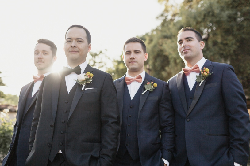 edgy groomsmen portrait at the adobo lodge in santa clara by heather elizabeth photography