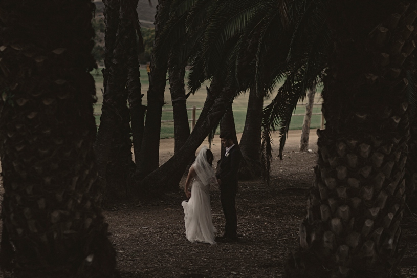 Moody artistic wedding portrait in San Diego by Heather Elizabeth