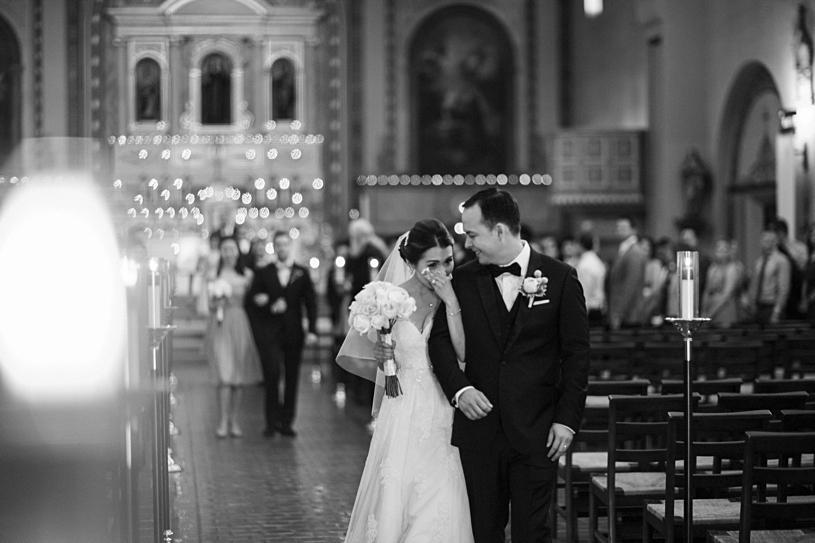 emotional wedding ceremony at Mission Santa Clara by Heather Elizabeth Photography
