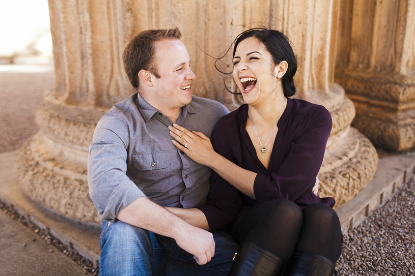 hilarious candid engagement session in San Francisco by Heather Elizabeth Photography