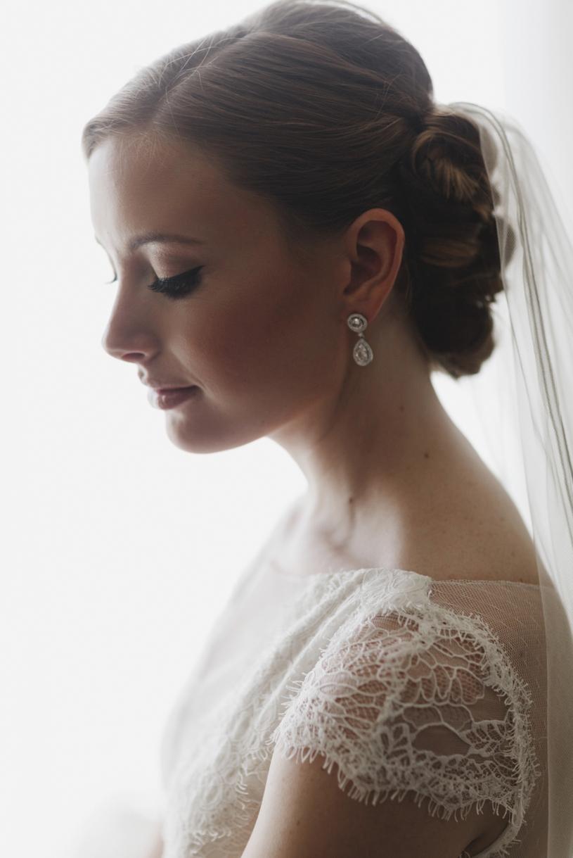 Fine art bridal portrait with a Amy Kushel San Francisco gown by Heather Elizabeth Photography
