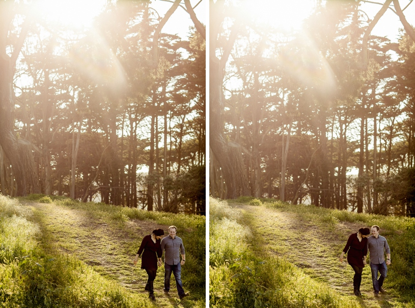 Golden Gate Park Land's end engagement session by Heather Elizabeth Photography