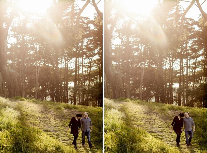 Golden Gate Park Land's end engagement session by Heather Elizabeth Photography