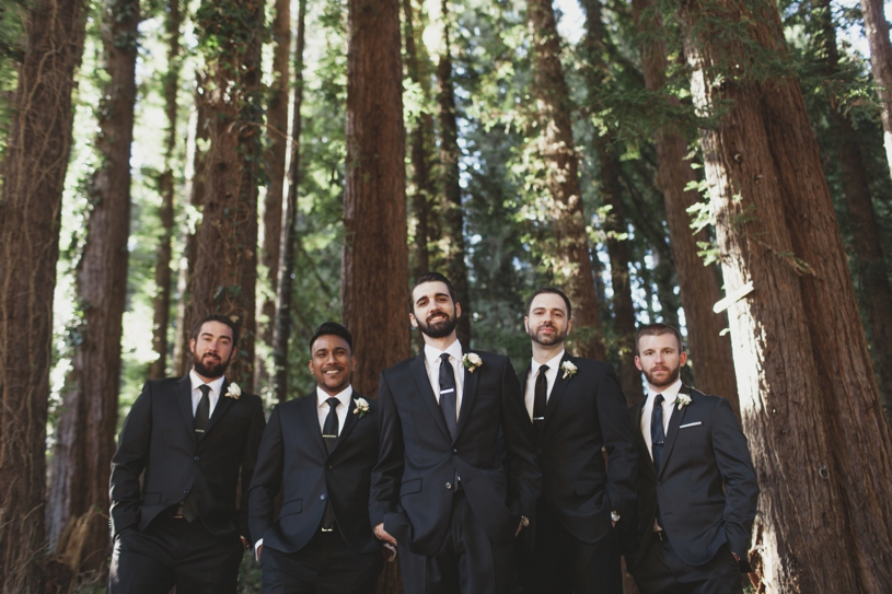 Groomsmen at a wedding at the mountain terrace