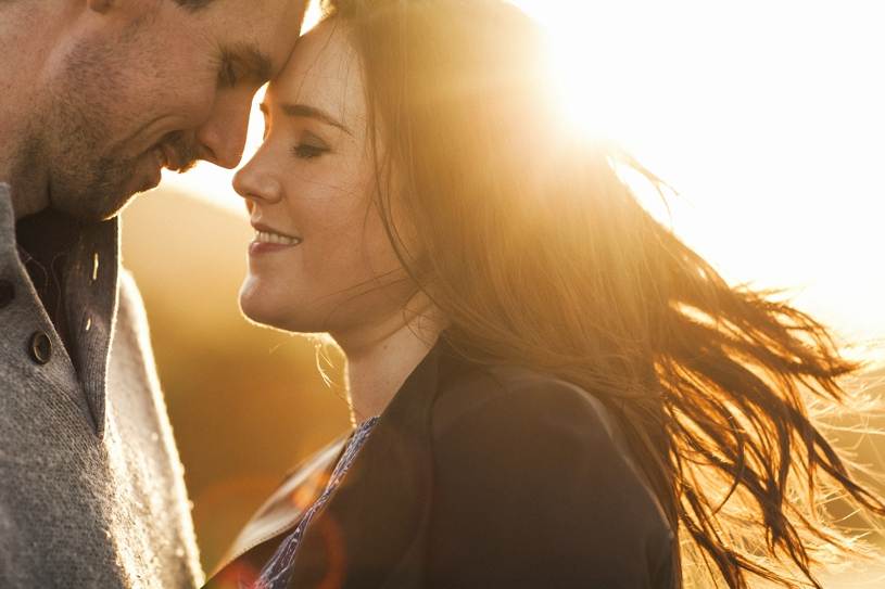 emotional and intimate sunset engagement in the concord hills by heather elizabeth photography