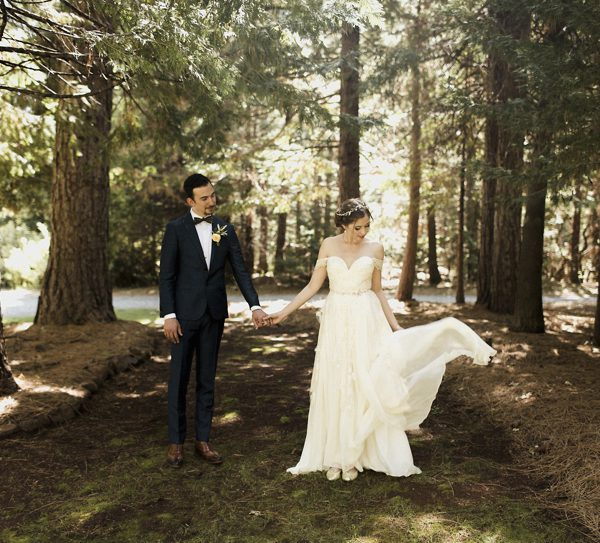 Danielle + Cassidy | A whimsical Forest House Lodge Wedding with a touch of Harry Potter
