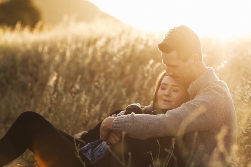 sunset engagement session at the Benecia Coastline by Heather Elizabeth Photography