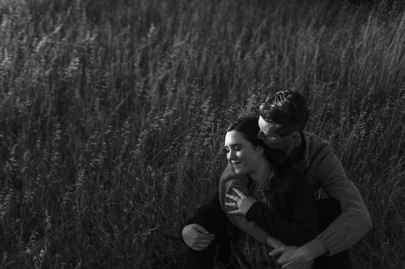 Intimate sunset engagement session in the hills of Concord by Heather Elizabeth Photography
